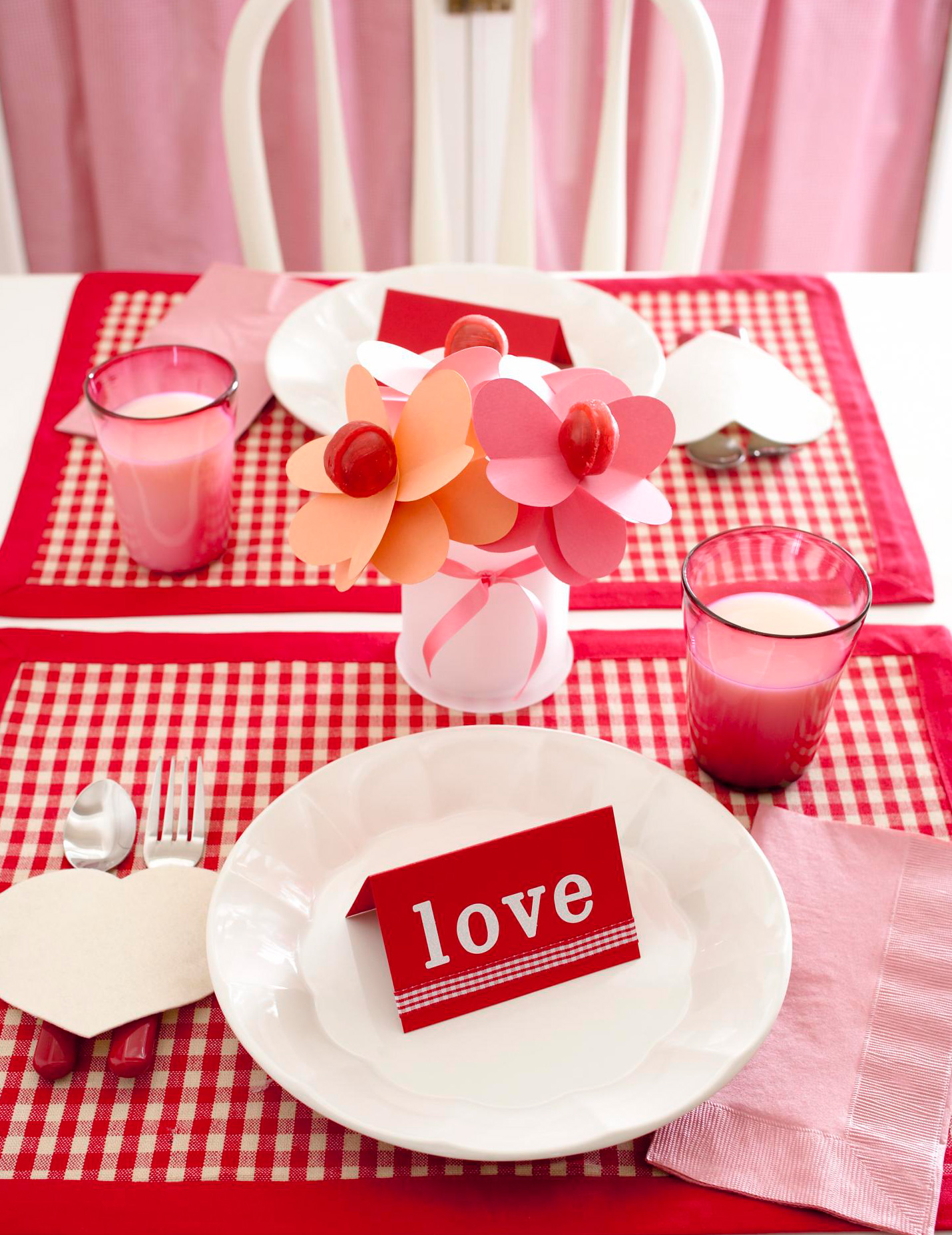 Informal Valentine place setting
