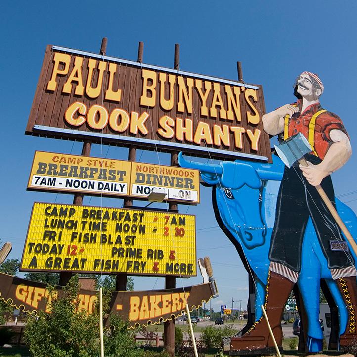 Paul Bunyan's Cook Shanty. Minocqua, Wisconsin.