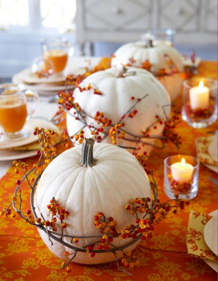 Orange-and-white centerpiece