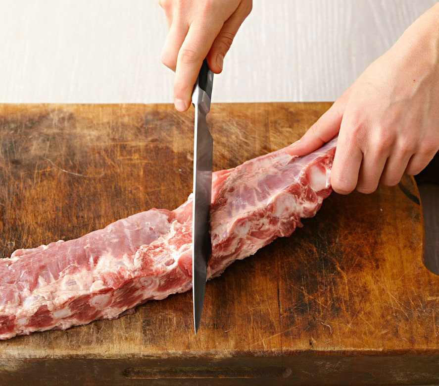 Rainy-day ribs: Cut into more manageable pieces.