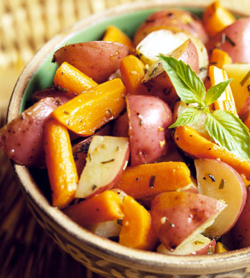 Five-Herb Roasted Carrots and Potatoes