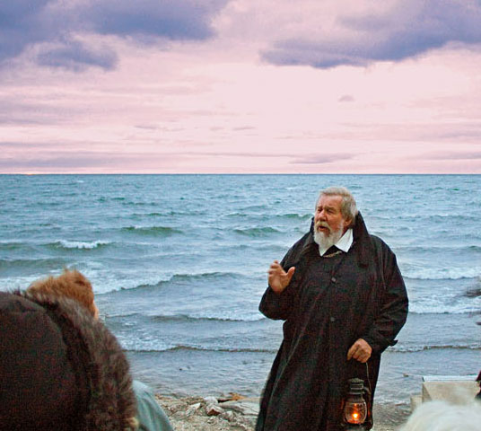 During a trolley ghost tour, Brother James shares tales of souls lost in the bay's cold water.