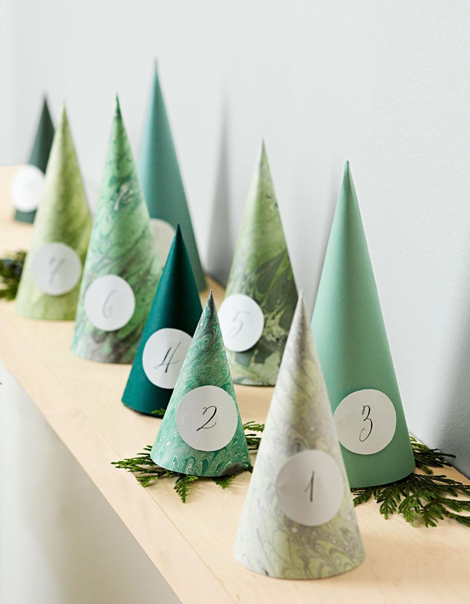 Hide-and-peek: Cone trees