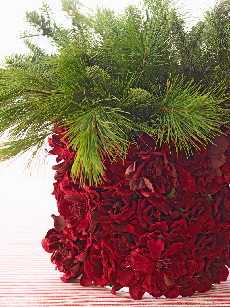 Christmas centerpiece ideas: evergreens