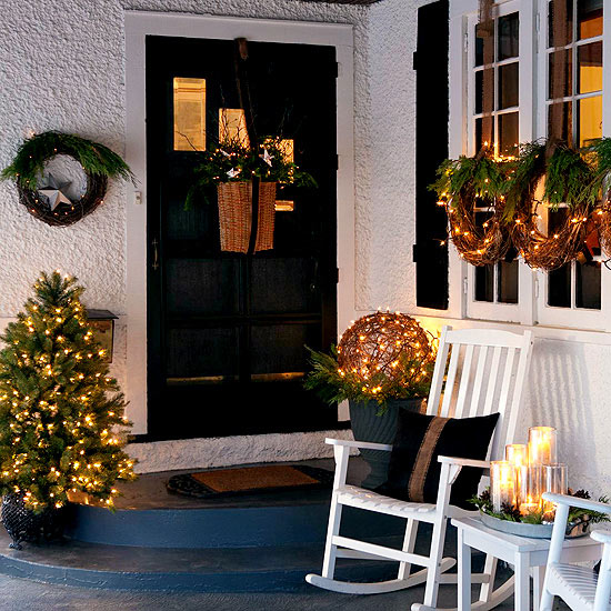 Twinkling porch