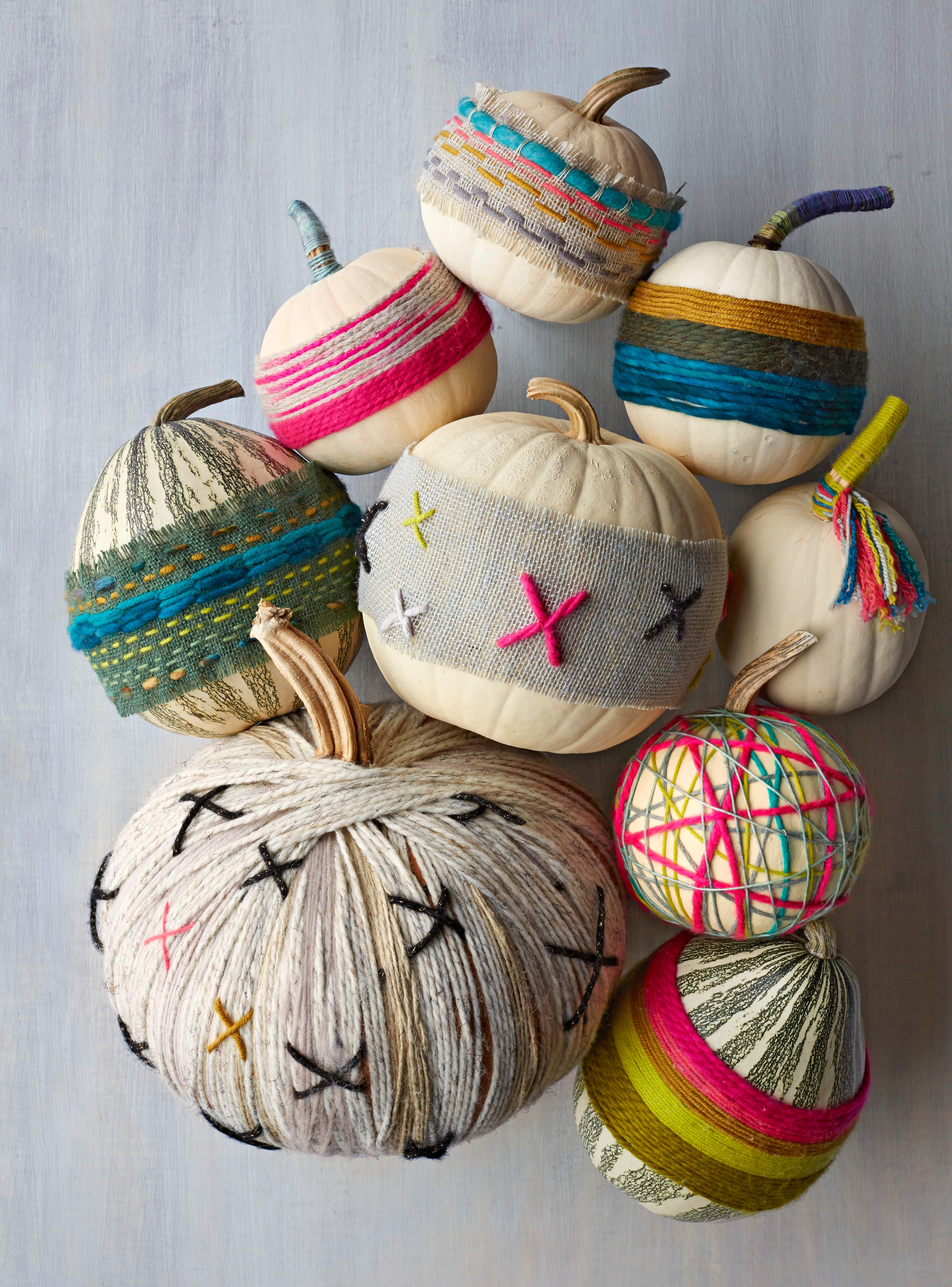 Wrapped pumpkins