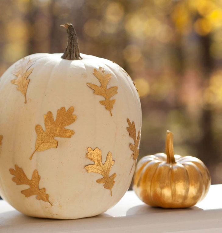 Gold-leaf pumpkin