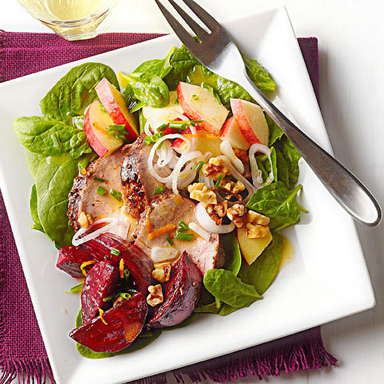 Roasted Pork and Beet Salad