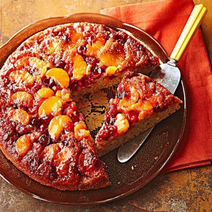 Cranberry Orange Upside-Down Cake