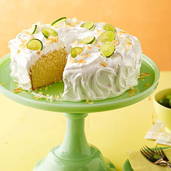 Key Lime Coconut Cake with Marshmallow Frosting