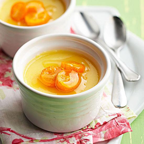 Meyer Lemon Pots de Crème with Honeyed Kumquats