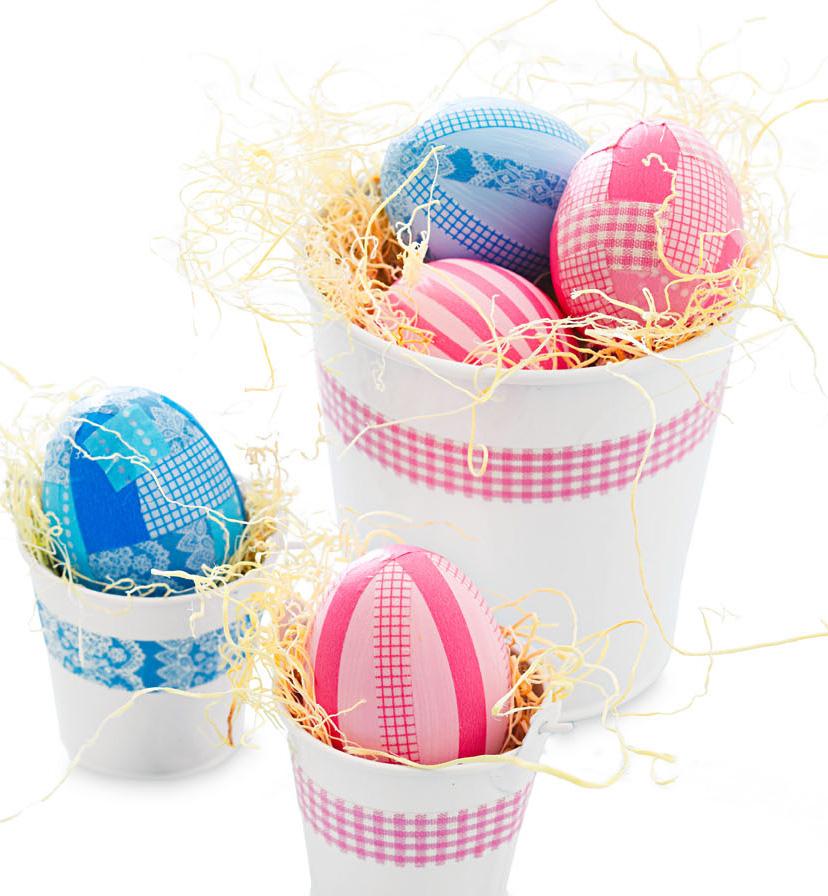 Easy patterned eggs