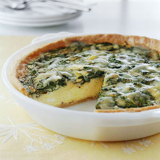 Spinach and Gruyère Quiche