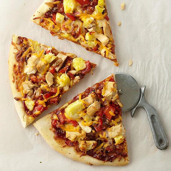 Pineapple Barbecue Chicken Pizza