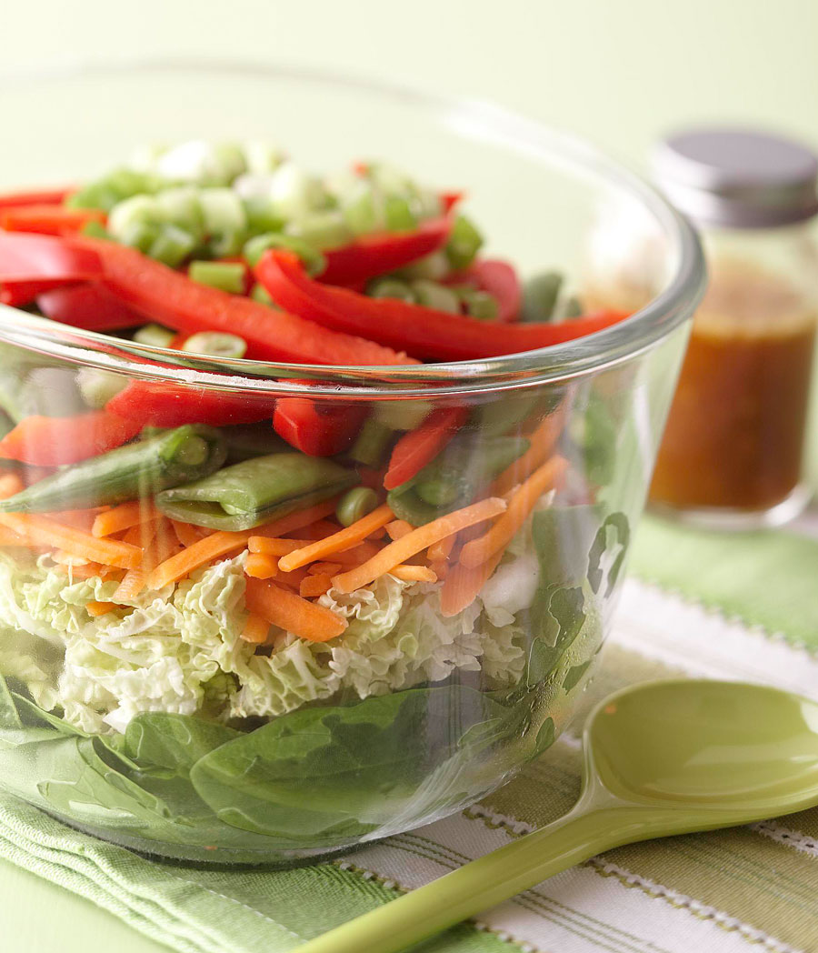 Layered Asian Salad