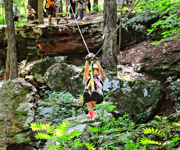 Photo courtesy of Shawnee Bluffs Canopy Tour.