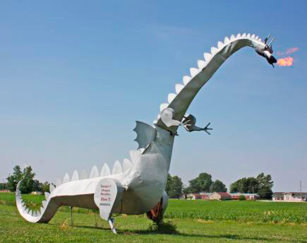 I-70: Kaskaskia fire breathing dragon
