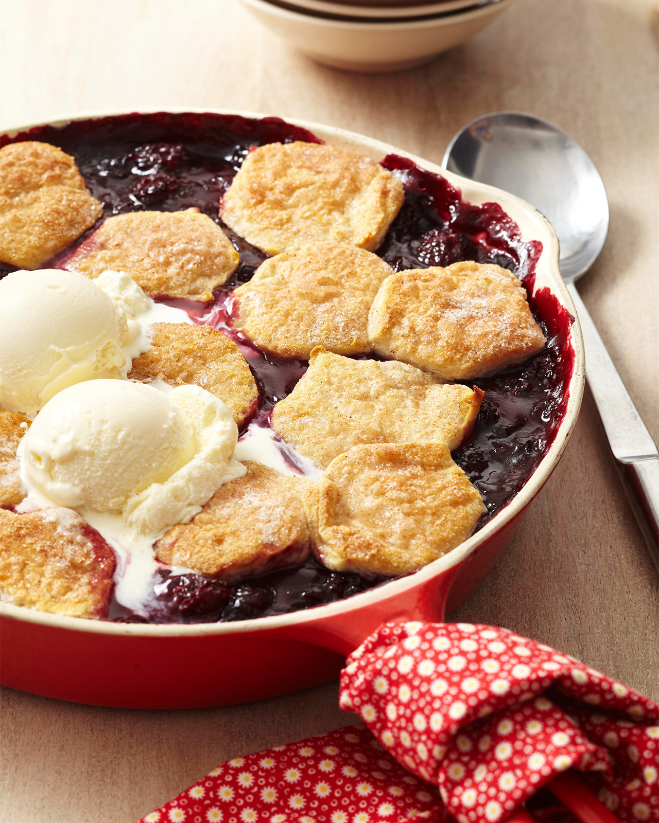 Double-Berry Skillet Cobbler