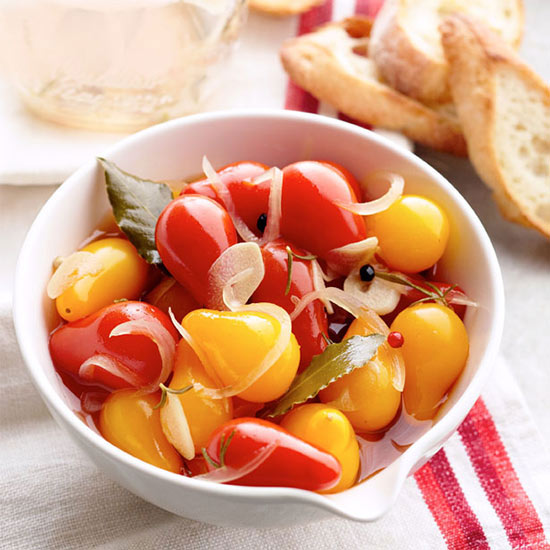 Pickled Pear Tomatoes with Rosemary and Garlic