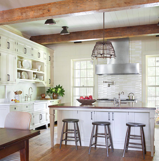 Sophisticated farm-style kitchen
