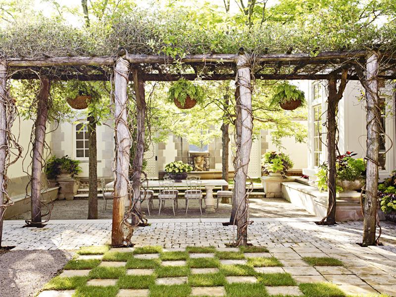 Michigan courtyard
