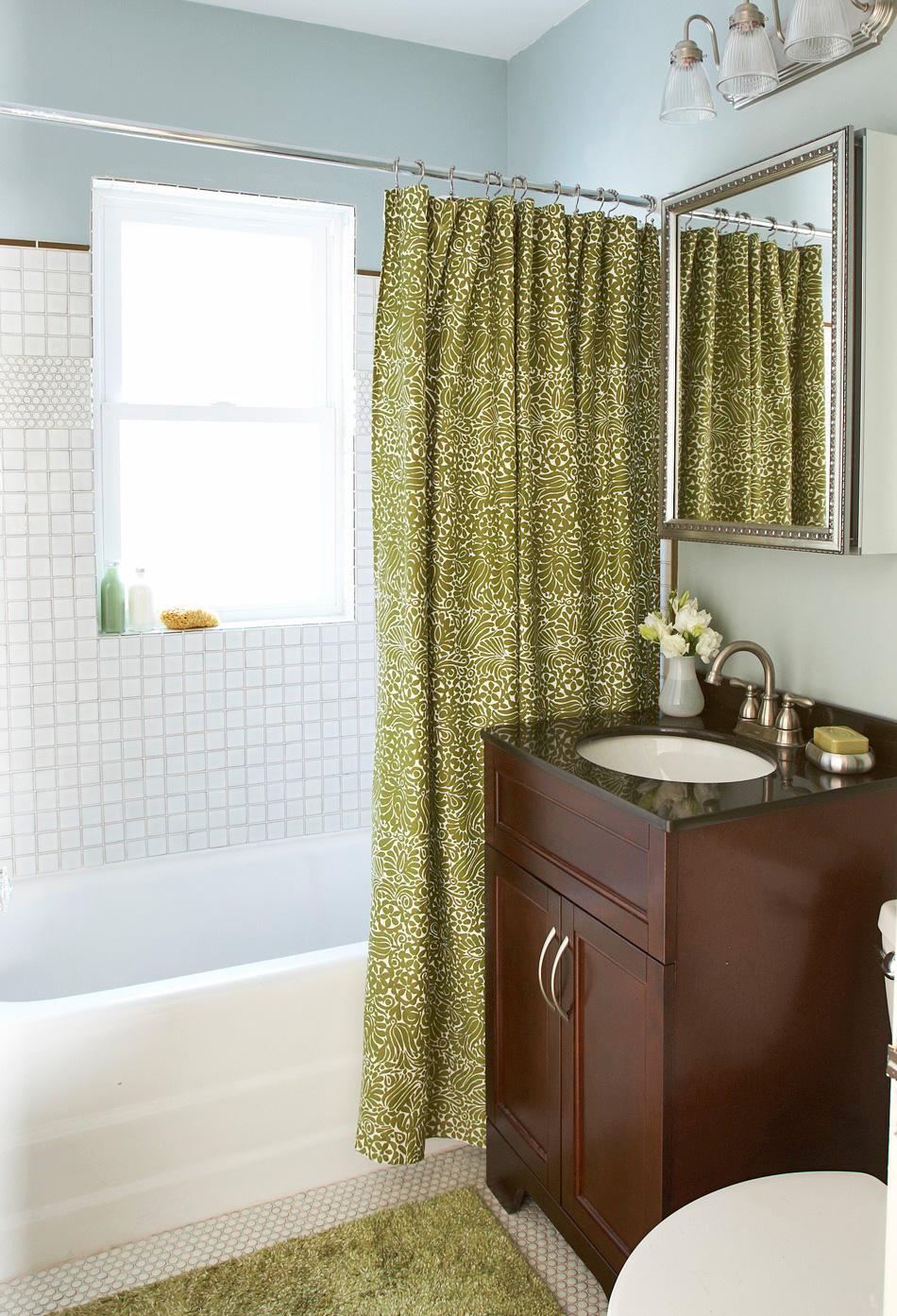 Swap shower curtains