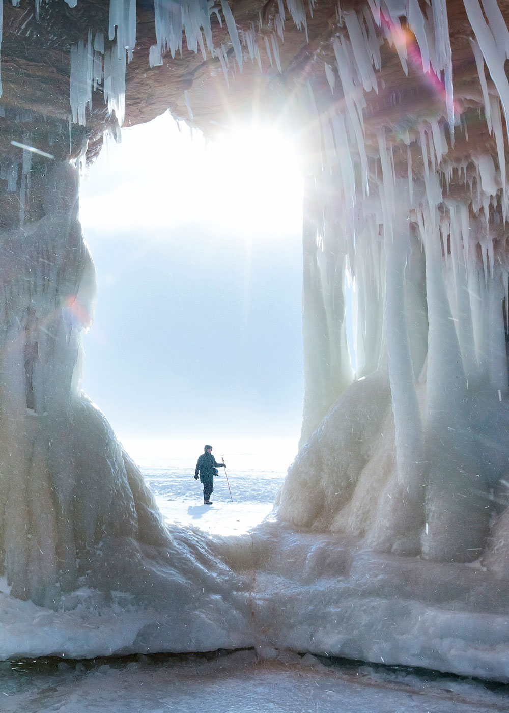 Ice caving