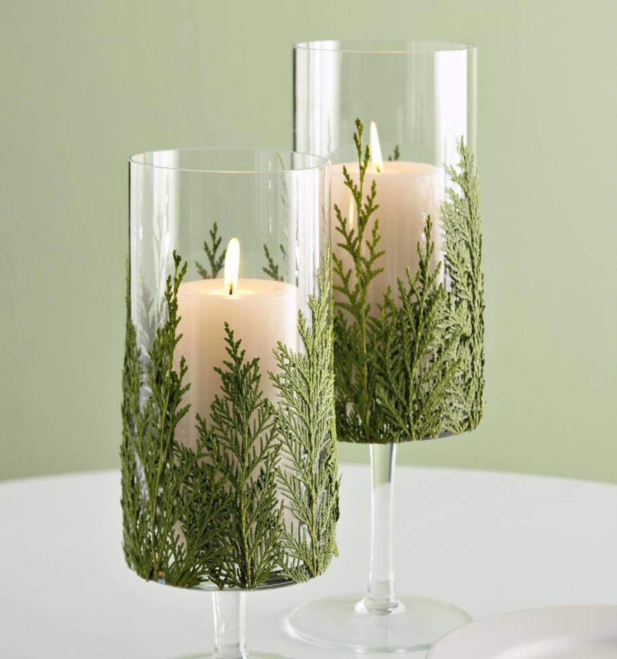 Leafy candle holder