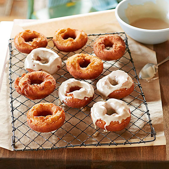 Old-Fashioned Potato Doughnuts with Coffee Glaze