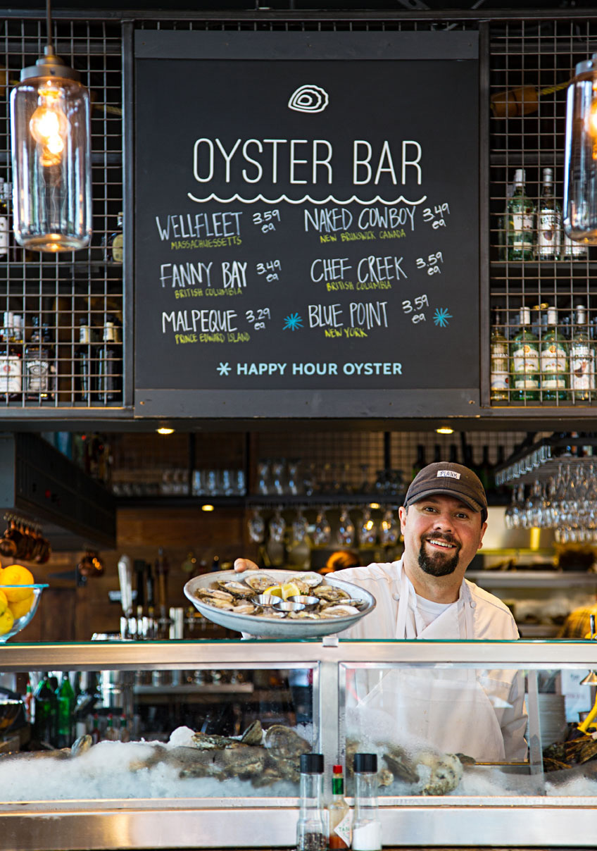 Fresh oysters at Plank Seafood Provisions.