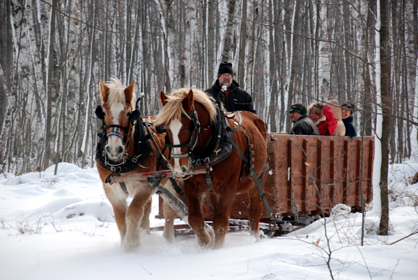 Mayberry sleigh ride photo courtesy of Door County Visitor Bureau/DoorCounty.com