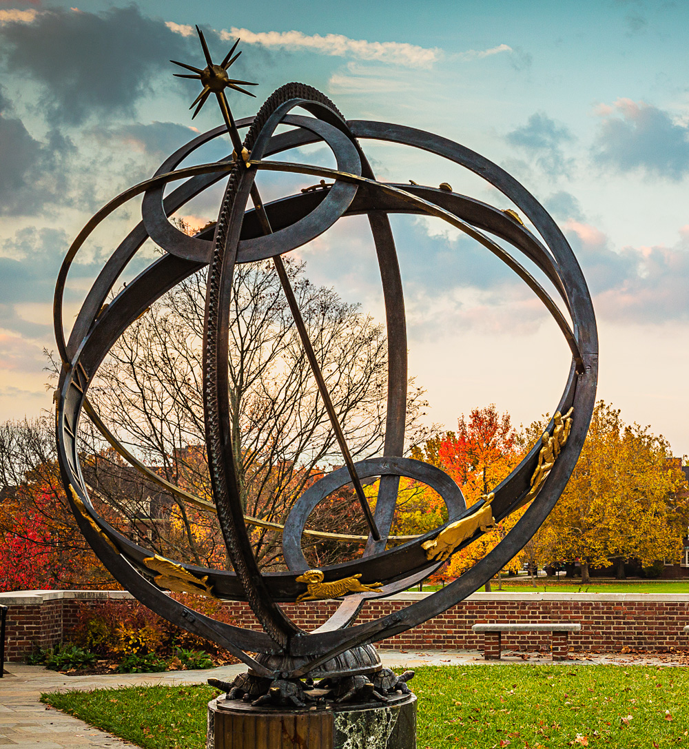 Tri Delt sundial. Miami University.