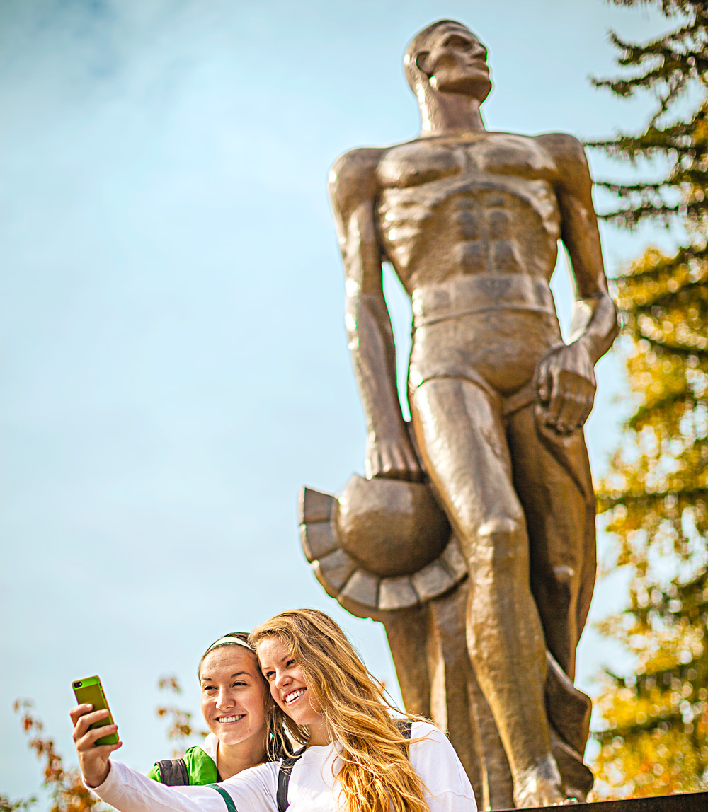 Sparty Statue. Michigan State University.