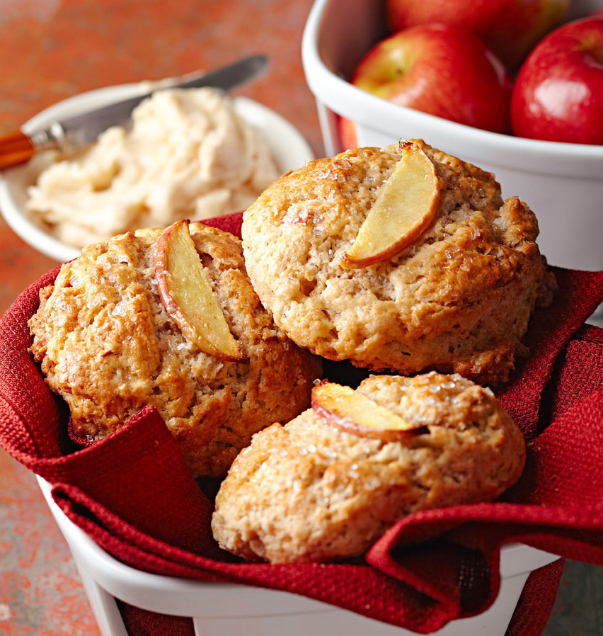 Apple Scones with Spiced Maple Butter
