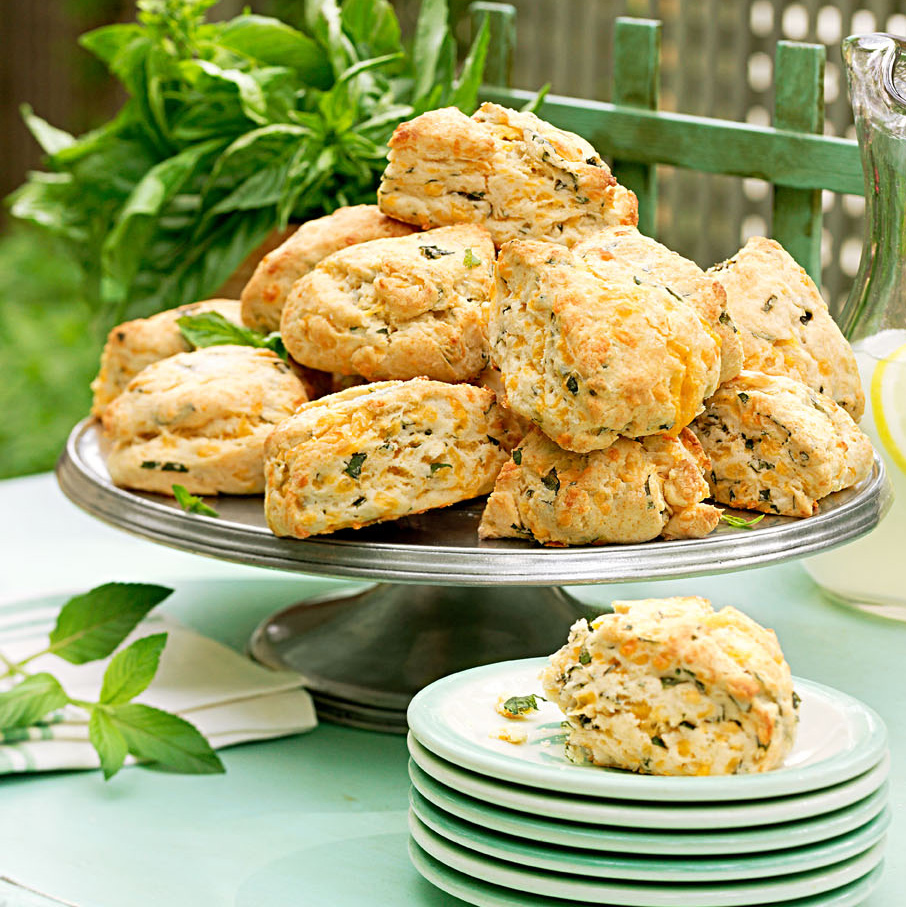 Cheddar-Basil Mini Scones