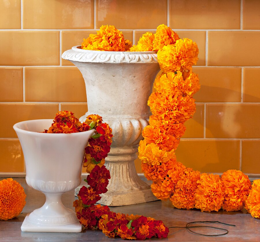 How To Make A Marigold Garland Midwest Living