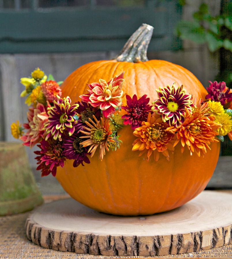 Flower pumpkin