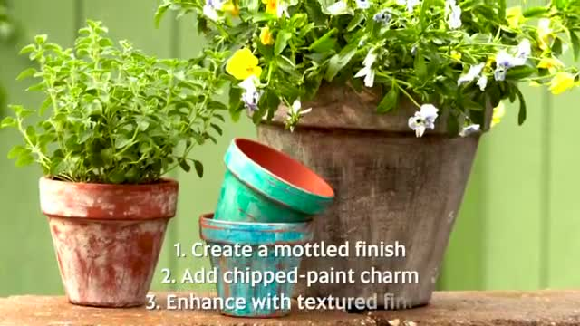 How To: Quickly Age Garden Pots