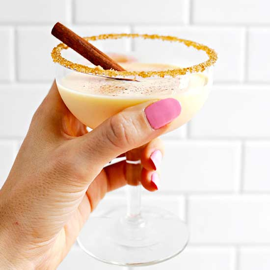 Egg Nog Martini