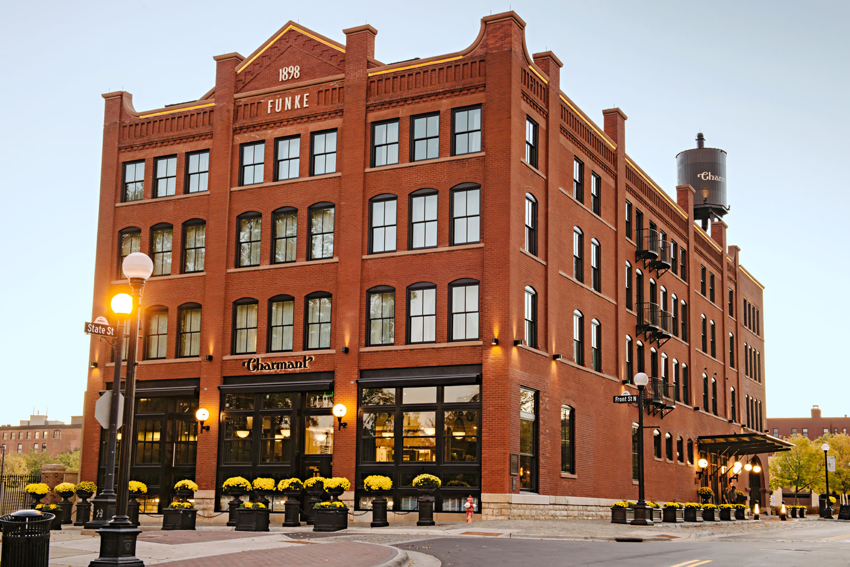 Reborn Spaces: The Charmant sits on the site where La Crosse's first building was built in 1842. Today 52,000 people live in the city, a gateway to the outdoors with award-winning restaurants and a University of Wisconsin campus serving 10,000 students.
