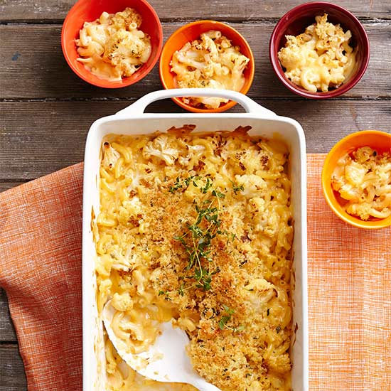 Roasted Cauliflower Mac and Cheese