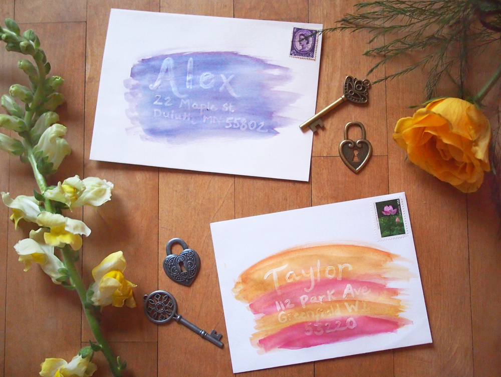 DIY-watercolor-envelopes