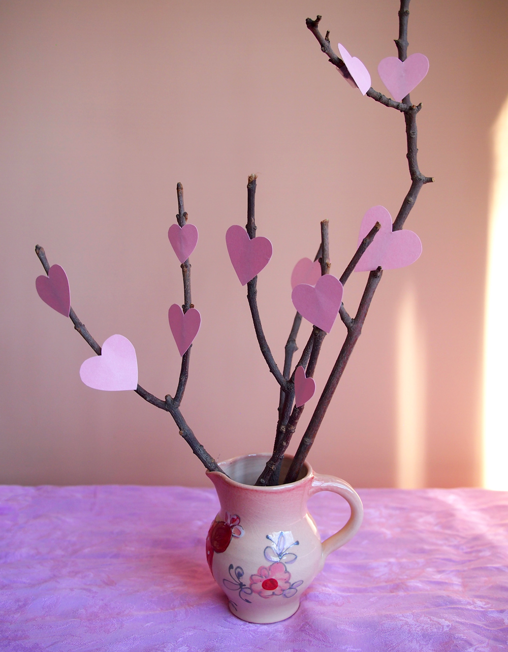 Twig-heart-bouqet-display