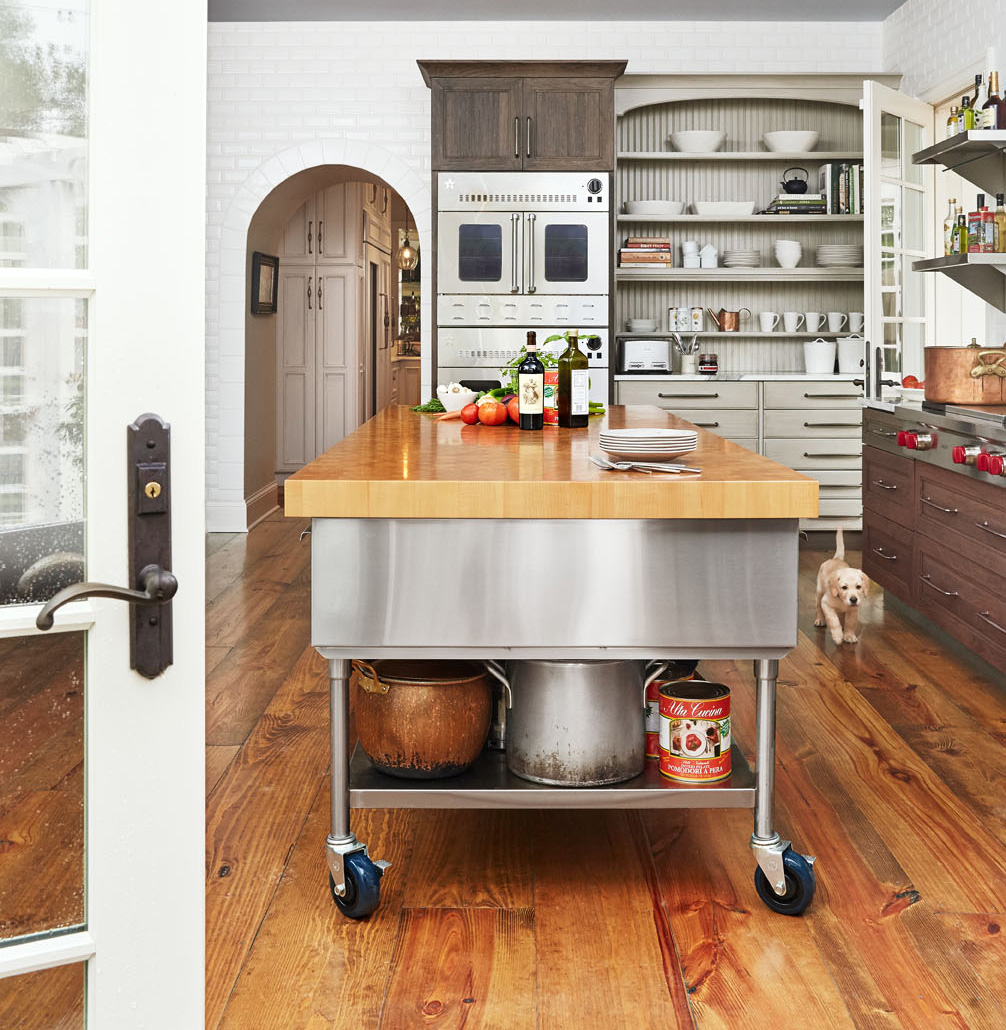 Garage kitchen island