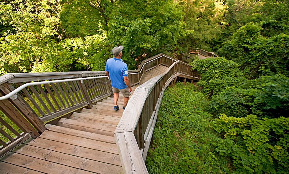 Steps to Mount Pisgah