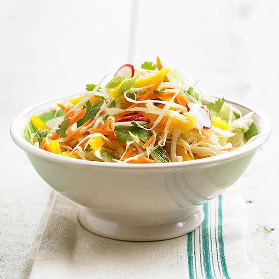 Garden Slaw with Spicy Asian Dressing