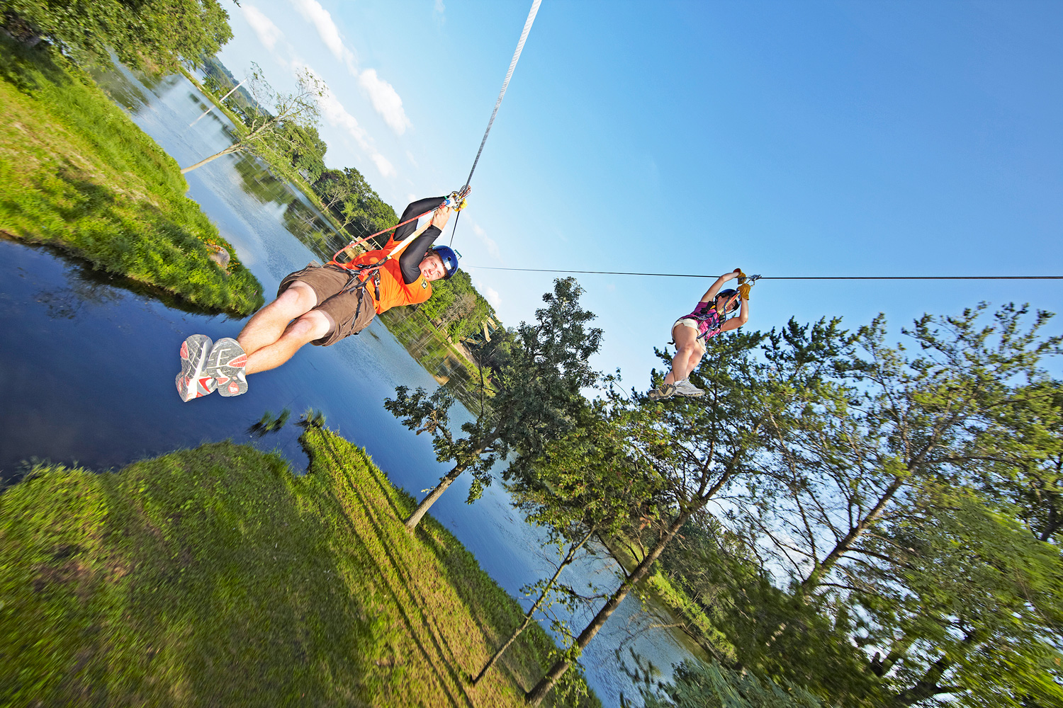 BigFoot Zip Line Tours. Photo: Courtesy Dells CVB