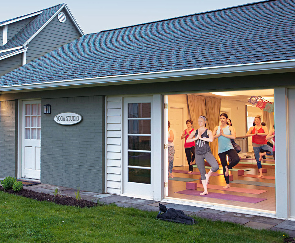Prairie Guest House yoga studio