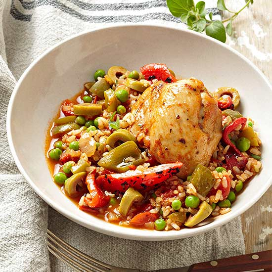 Slow-Cooker Cuban Arroz con Pollo
