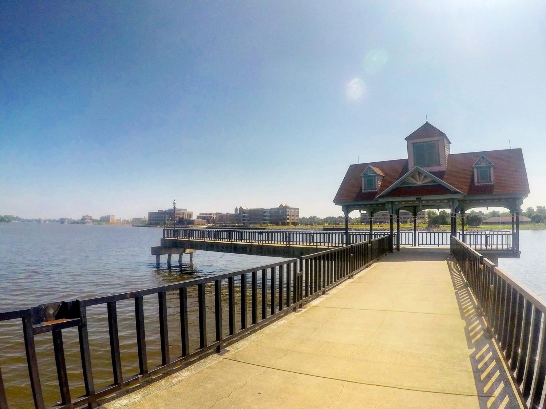 Bay City Riverwalk pier